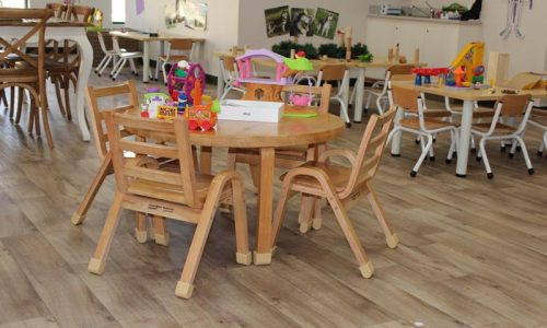 natural wood tables seating